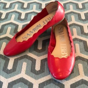 Red slip on flats